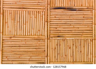 The background image of the natural bamboo wall