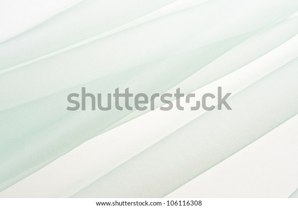 background image on green chiffon cloth