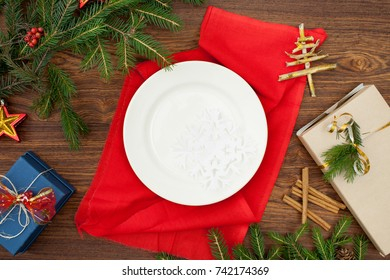 The background image for a presentation or to insert text greetings, Christmas holidays. Christmas decor.