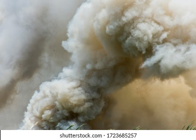 Background images of large smoke from forest fires