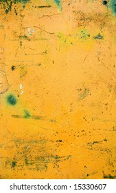 Background iron painted yellow color rusty