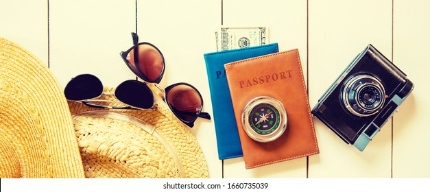 Background journey. Sea tour, items Selective focus nature