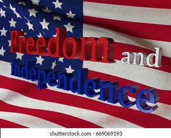 Background for July 4th. Independence Day in the United States of America. Flag of the USA. 3D rendering, illustration.