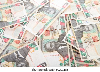 Background of Kenyan currency in closeup