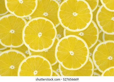 Background of lemon sliced pieces