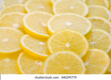 Background with lemon slices
