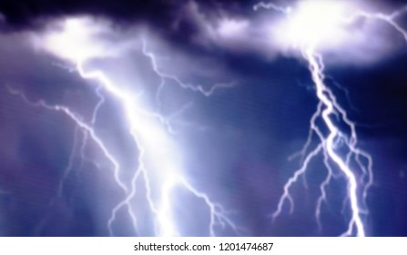 Background lightning blur