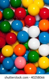 Background Macro of gumballs