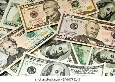 background made of american dollars