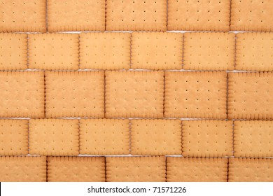 Background made of biscuits