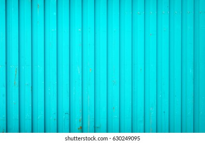 Background made of blue metal cargo container