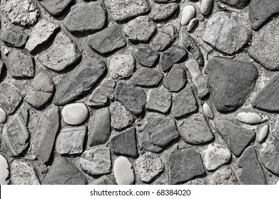 background made of a closeup of a cobblestones pattern floor