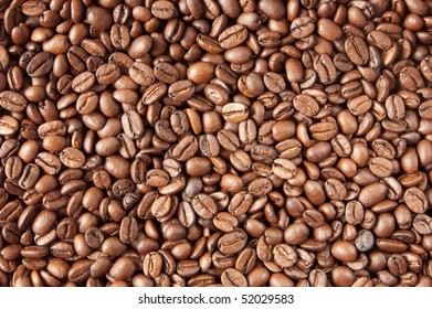 the background made of coffee beans
