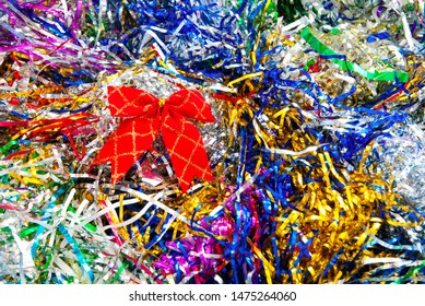 background made of a color tinsel