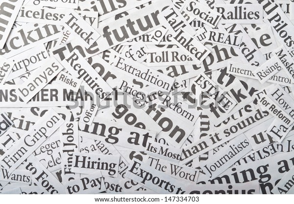 Background Made Newspaper Clippings Stock Photo (Edit Now) 147334703