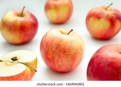 background made of red apples