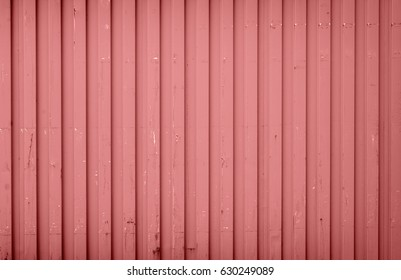 Background made of red metal cargo container