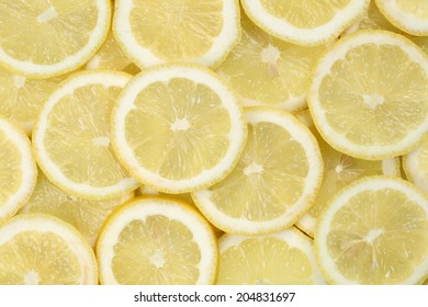 Background made from sliced lemon citrus fruits