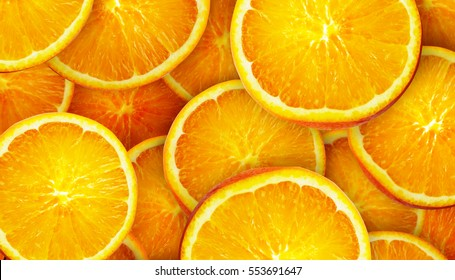Background made from sliced orange citrus fruits.