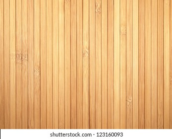 Background made of vertical yellow bamboo laths.