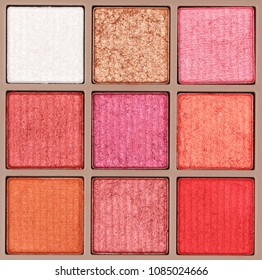background of makeup eyeshadows palette glitter