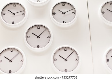 background of many clock.