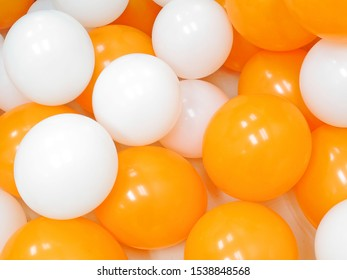 Background of Many colorful balloons