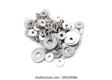 Background of many screws