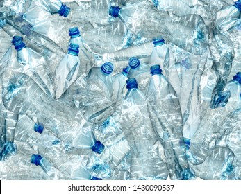 Background of many used empty PET bottles - Shutterstock ID 1430090537