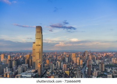 Background material of Changsha skyline of Hunan City