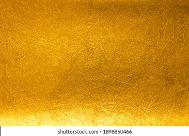 Background material of Japanese paper that shines in gold