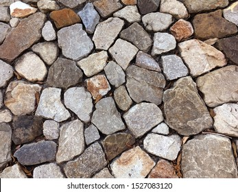 Background material, rock wall, stone, park landscaping