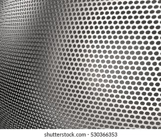 background metal grid