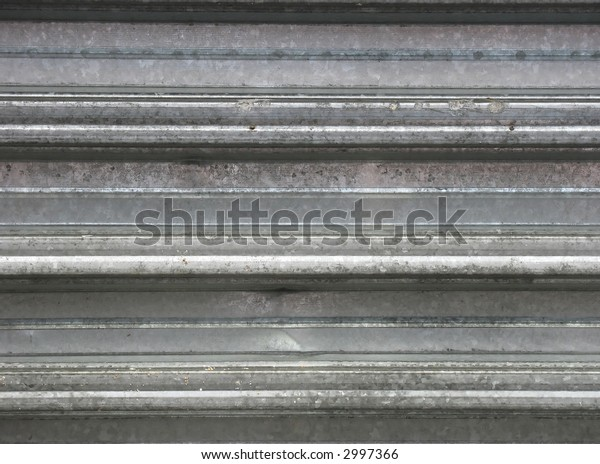 Background from metal. Horizontal lines. Construction.