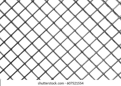 background of metal mesh, white