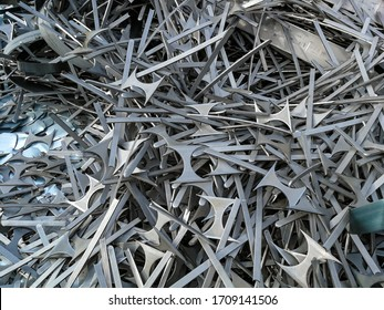 Background of metal scraps to be recycled
