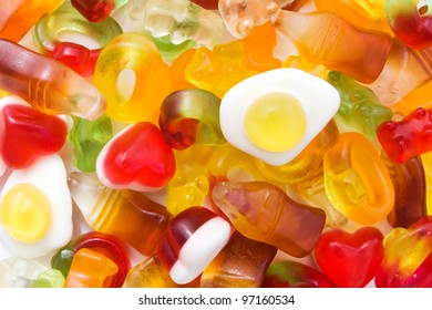 Background of mixed sweets
