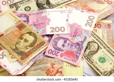Background from monetary banknotes