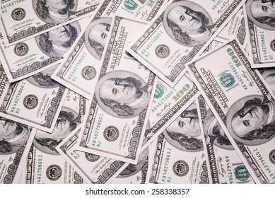 Background with money american 100 dollar bills