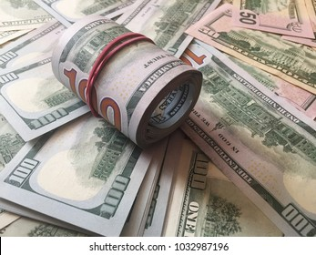 Background with money American banknotes