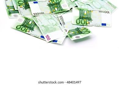Background money, Shot in a studio