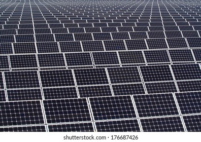background of mono-crystalline photovoltaic modules