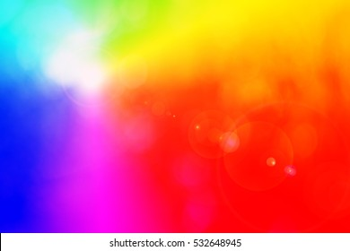 Background motif with rainbow colors