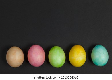Background, multicolored easter eggs