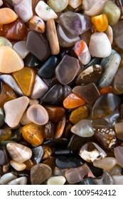 background from multicolored polished stones background