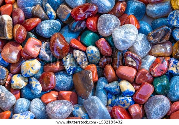Background from multi-colored Stereoscopic Cobblestones.