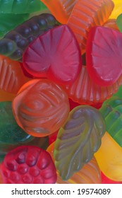 Background of multicolored sweet candies.