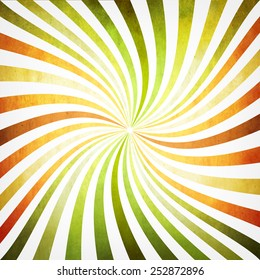 Background with multicolored twisted rays