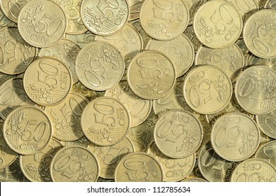 background of a multitude of 50 EUROcent coins