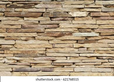 Background of narrow brick new wall, texture